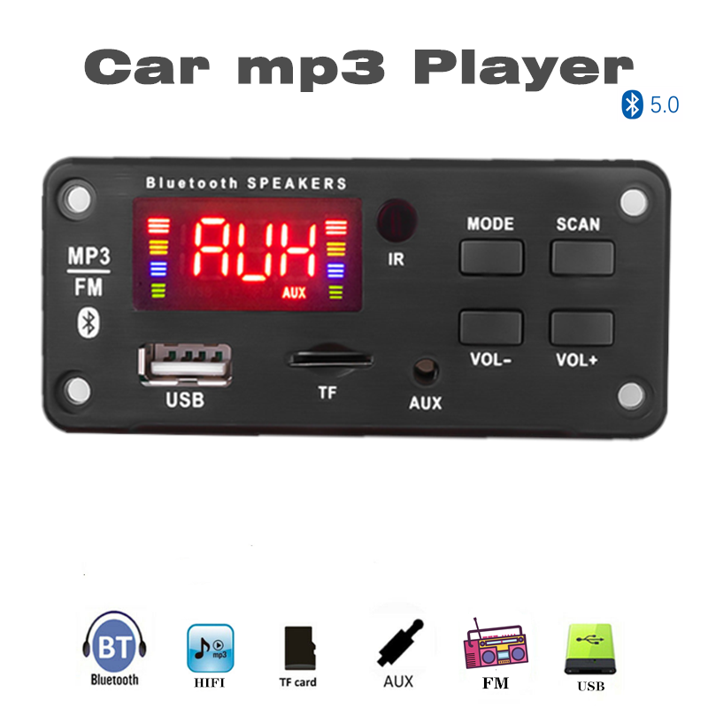 Bluetooth5.0 MP3 Decoding Board Module Wireless Car USB MP3 Player TF Card Slot / USB / FM / Remote Decoding Board Module