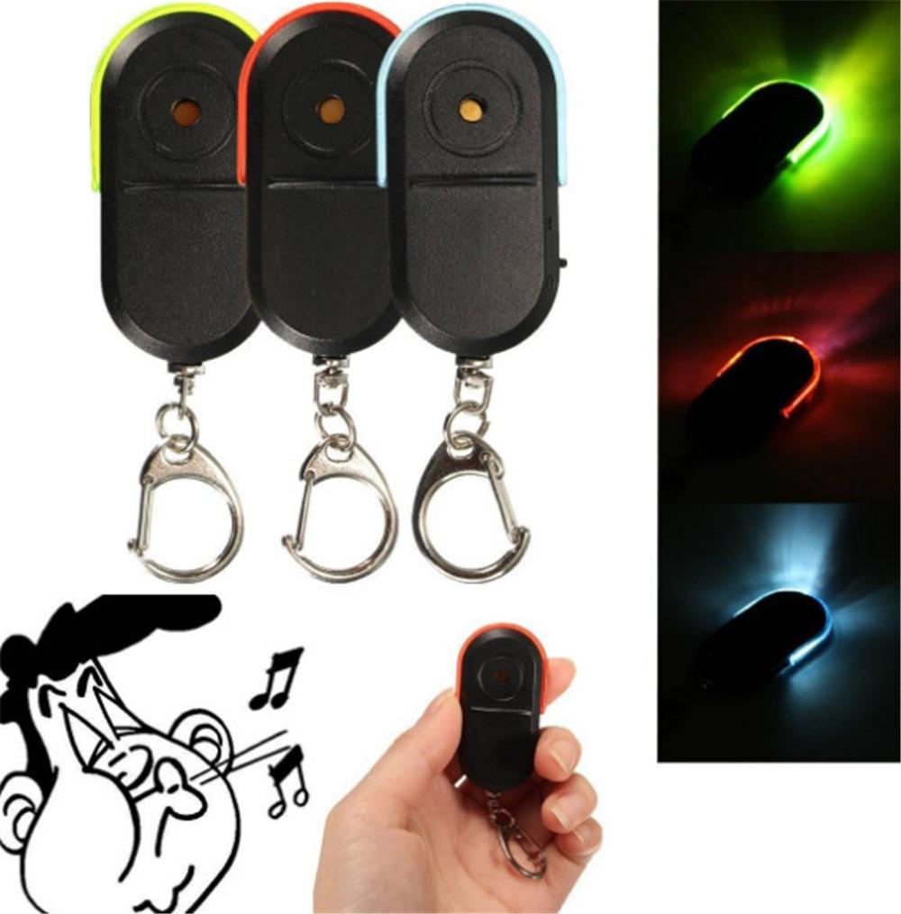 Светильник Беспроводной свисток Key Finder Брелок Анти-потерянный устройство брелки для ключей электронная противокражная эллипс пластиковая ...