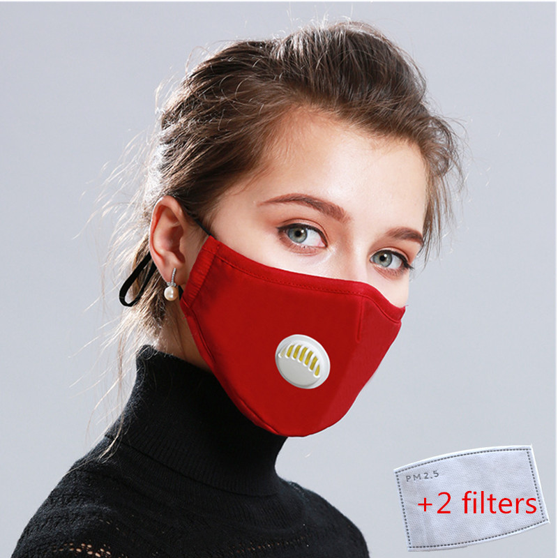 Men Women Anti-Dust Mask Anti Pollution PM2.5 Mouth Masks With Breathable Valve Activated Carbon Filter Respirator