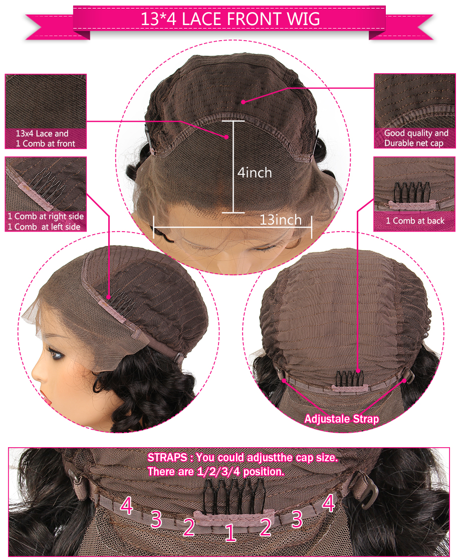 SHD Ombre Color Lace Front Wig with Baby Hair Brazilian Kinky Curly Human Hair Wigs for Women Remy Hair Glueless Lace Wigs 5