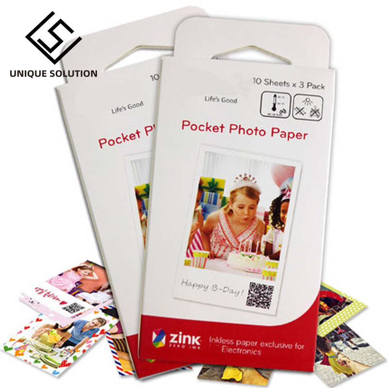 10-60 Sheets Photographic Paper Zink PS2203 Smart Mobile Printer For LG Photo Printer PD221/PD251 PD233 PD239 Printer Paper