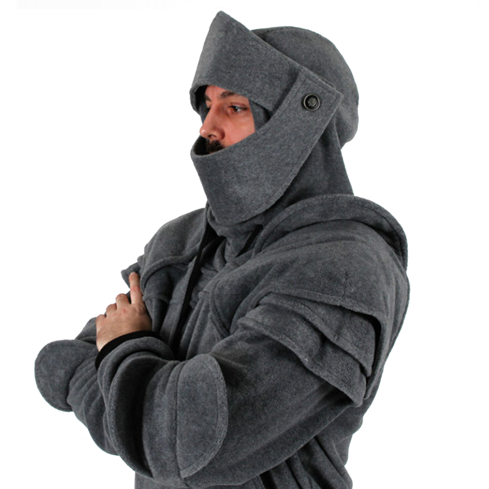 Win beauty Ретро Уличная Мужская толстовка для путешествий Одежда для Хэллоуина средневековый стиль косплей готический длинный рукав рыцарь Толстовка размера плюс