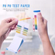80 полосок PH Тест-полоска вода тест Litmus бумага полный диапазон Щелочная кислота тест бумажный лактем тест химические растворители измерения