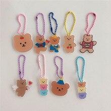 Case Backpack Keychains Pendant Earphone Trinkets Angel Kawaii Jewelry Cherry Girls Bear