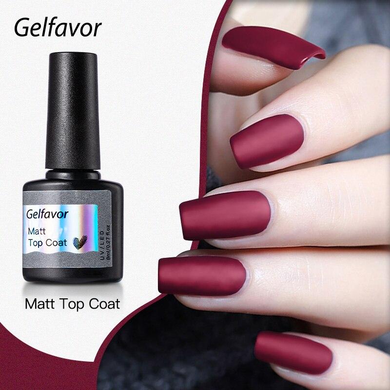 Gelfavor лаки для ногтей матовый Гель-лак для ногтей лак для верхнего и базового покрытия, прозрачный, Длительное Действие, Маникюр УФ-гель грун...