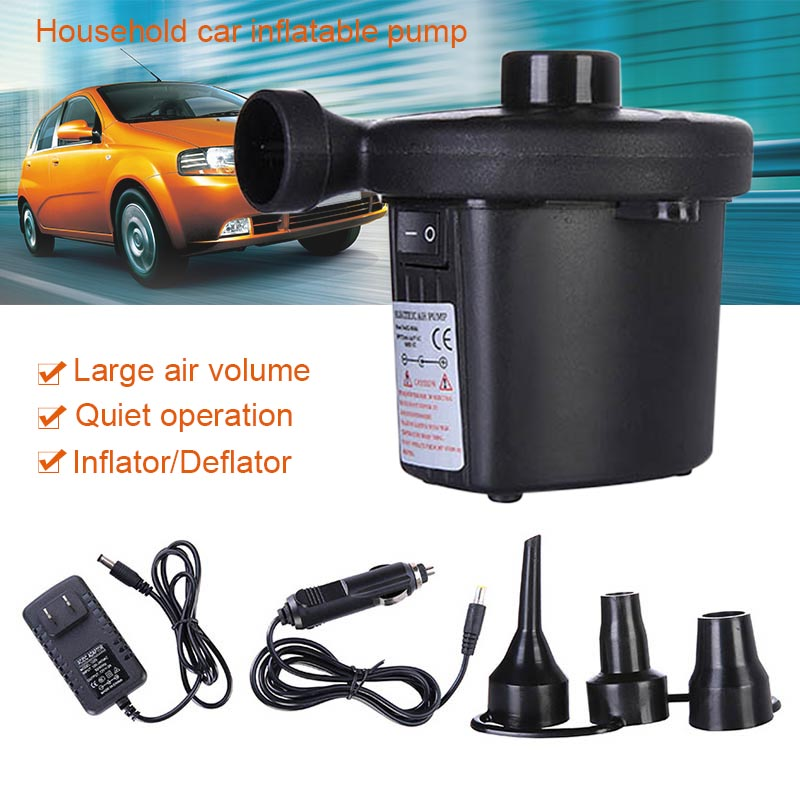 Hot Compresor Electric Air Pump Automatic & Quick Pumping with 3 Jets for Air Mattress Inflatable Boat Beds JLD компрессор