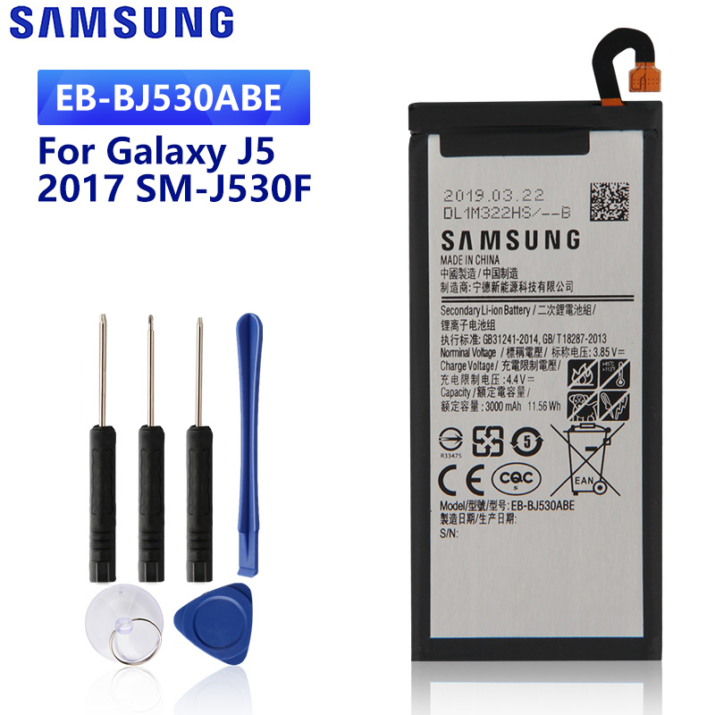 SAMSUNG Original Replacement <font><b>Battery</b></font> EB-BJ530ABE For Samsung Galaxy J5 2017 Edition SM-<font><b>J530F</b></font> J530G <font><b>J530F</b></font> 3000mAh image