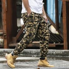 Pantalons Cargo Harem pour hommes, à poches latérales, Streetwear, grande taille, de jogging, Hip Hop, 2019, à la mode, décontracté