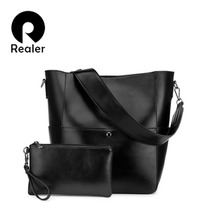 Realer комплект с сумкой сумка через плечо женская сумка через плечо сумка женская сумка кошелек для женщин 2020 Искусственная Кожа Роскошные ди...
