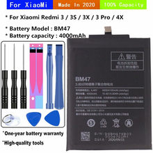 BM47 4000mAh for xiaomi redmi 4x battery redmi 3 / 3x / 3s / 3 Pro mobile phone replacement batteries + tools
