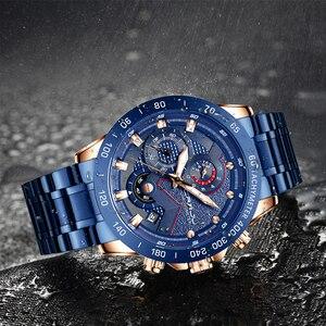 Image 5 - CRRJU Fashion men watches Top Luxury Brand Chronograph Wristwatch male Waterproof Sport Quartz watch men clock relogio masculino