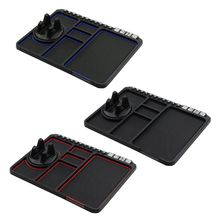 Anti-Slip Silicone Car Mat Pad Auto Phone Stand Holder Dashboard Mount with Temporary Parking Card for Vehicle Cellphone стоимость