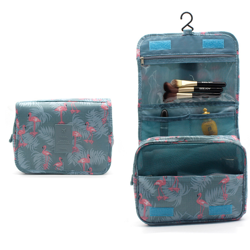 Hanging Cosmetic Bags Large Waterproof Beauty Travel Bag Luggage Organizer Packing Cubes Make Up Bag Travel Bag Organizer Pink
