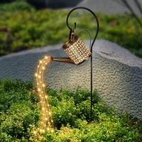 Riego de jardín Solar paisaje camino LED cadena de luces del patio de juego con plantador para patio, césped arte al aire libre decoraciones para el hogar