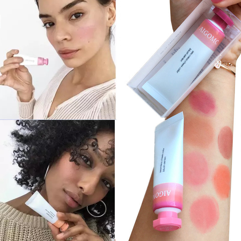 Liquid Blush Cosmetics Blusher Gel Creamy Rouge 6 Colors Long Lasting Natural Cheek Blush Face Contour Makeup Peach
