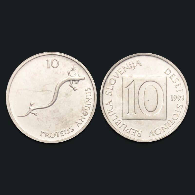 Slovenian 10 Cent Coin 100% Real Genuine Original Coin Comemorative Coin Collection Rare Unc