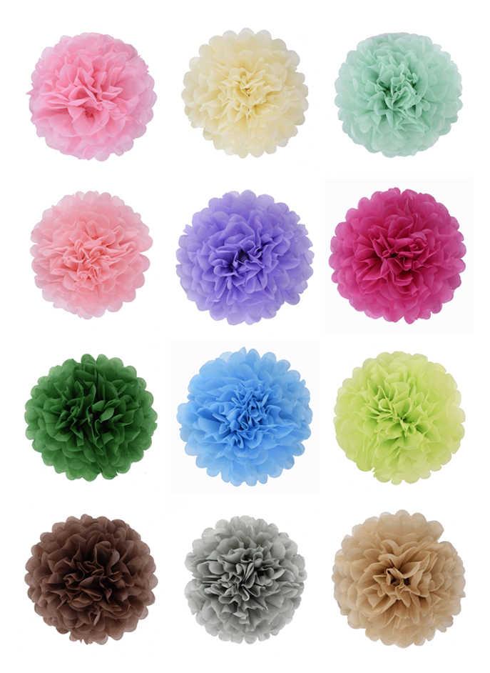 Bolas de papel de decoração artesanal para festas, chá de bebê, pompons decorativos para decoração
