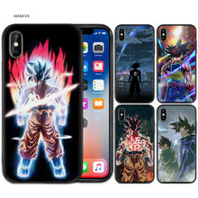Black Rubber Soft Silicone Case Bag Cover for iPhone XS XR X 7 8 6 6S 5C 5E 5S 5 Plus Max Shell Fundas Coque Cases DRAGON BALL Z(China)