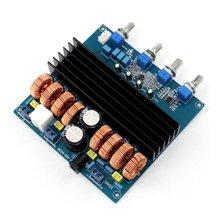 TDA7498 Amplifier Module 2.1 Channels 200W+100W+100W 4ohm Class D Amplifier Board + Tone Adjusted PCB Board tda7498 2 1 class d 200w 100w 100w dc24v to dc32v digital power amplifier board yj00257