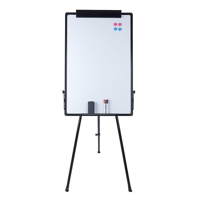 Magnetic Dry Erase Board With Tripod for Desktop Single Side White Board Planner Reminder 60*90cm School Office Writing Board