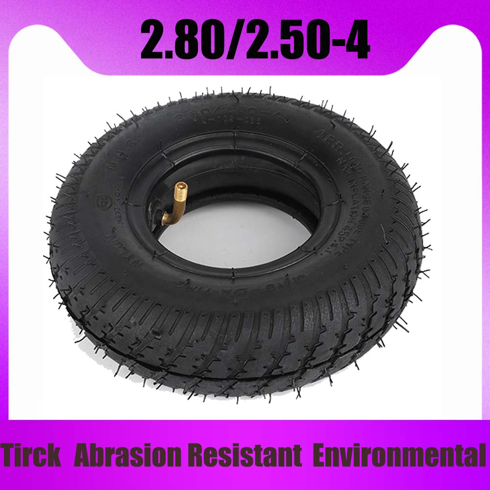 <font><b>2.80/2.50</b></font>-<font><b>4</b></font> Pneumatic Tyre 45PSI for Electric Scooter Tire ATV Elderly <font><b>2.80/2.50</b></font>-<font><b>4</b></font> Tire Shared Bicycle Inner Tube image