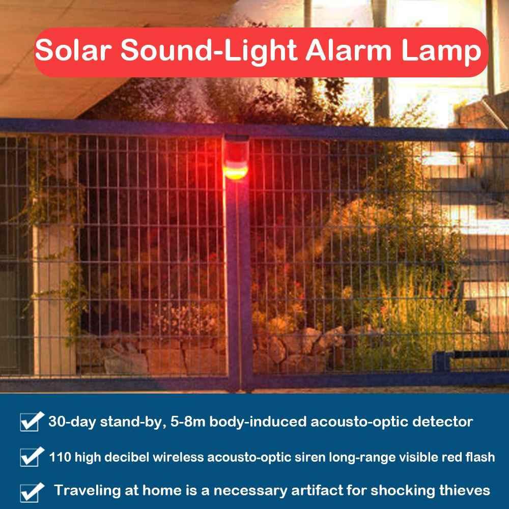 Горячая 6 светодиодный звуковой сигнал на солнечных батареях, мигающий светодиодный световой сигнал, охранная сигнализация для дома, виллы, фермы, квартиры на открытом воздухе