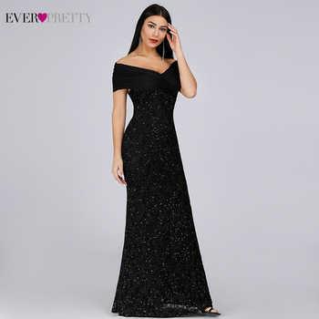 Sparkle Lace Evening Dresses Long Ever Pretty EP07953BK Off The Shoulder Mermaid Elegant Black Formal Dresses Vestidos Longo