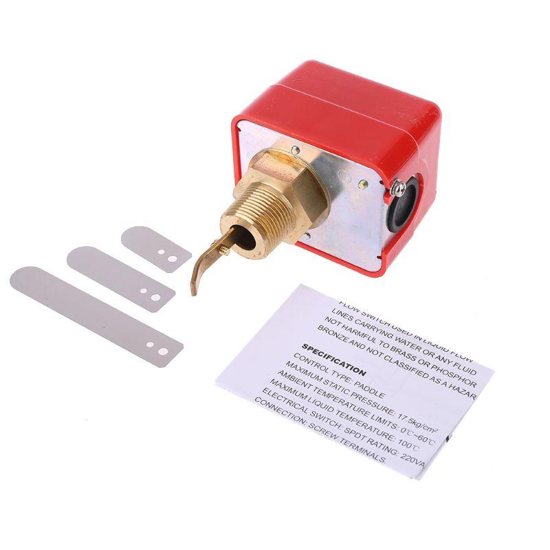 HFS-20/15/25 R3/4 Датчик расхода жидкости воды и масла, автоматический переключатель потока весла, 15 А, 250 В, IP54