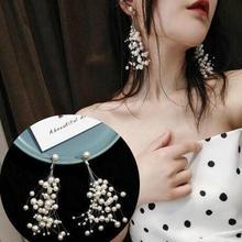 Full star long tassel Pearl Fish line earrings Korean elegant temperament simple personality socialite