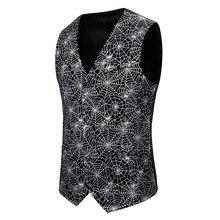 Vests Gilet Steampunk Wedding-Suit Bronzing-Vest Victorian Aristocrat Single-Breasted
