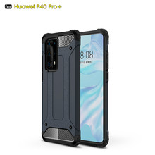 Voor Coque Huawei P40 P40 Pro + Case Heavy Duty Armor Slim Hard Rubber Tough Cover Silicone Telefoon Case Voor huawei P40 Pro Plus