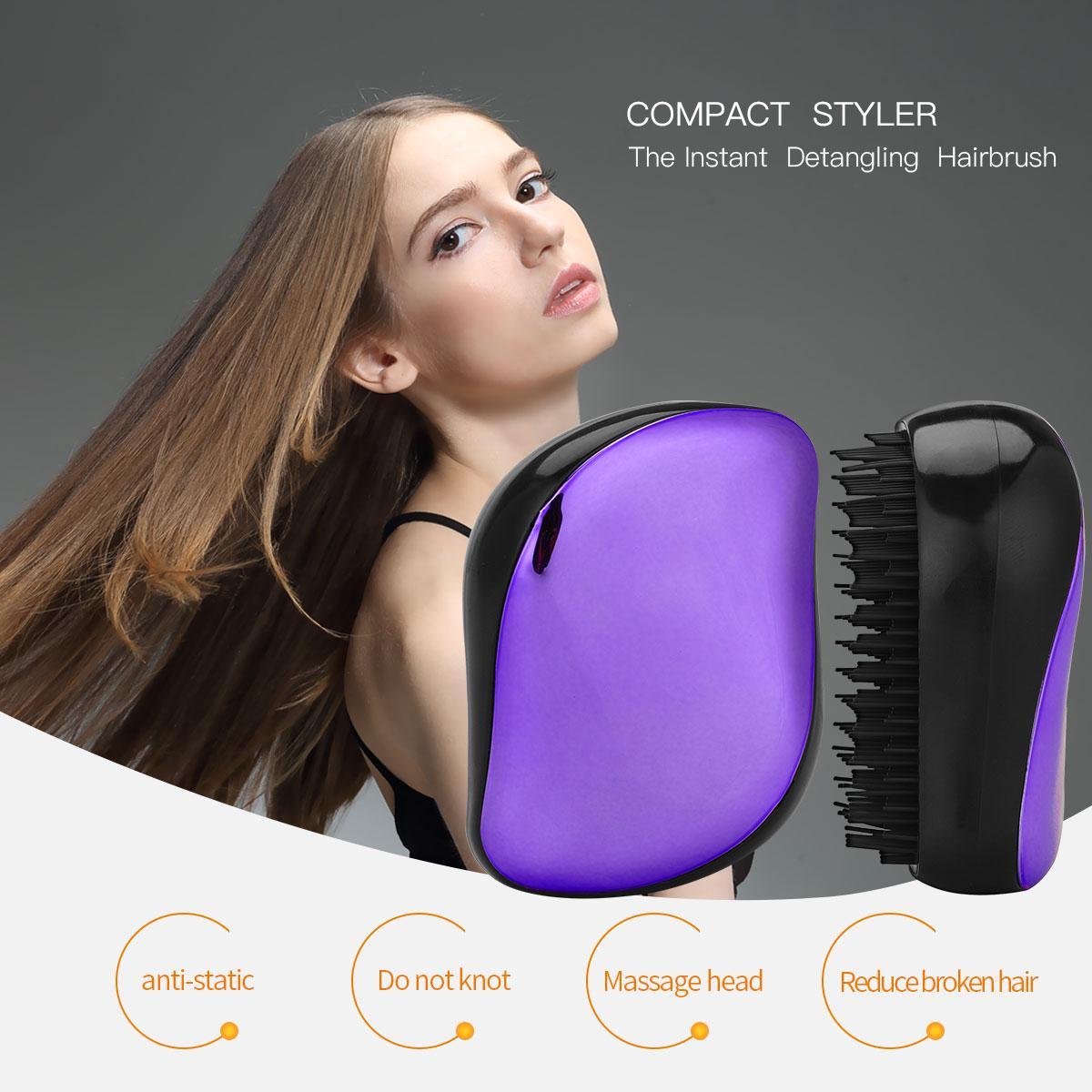 1pc Tangle Hair Brush Egg Shape Hairbrush Anti Static Styling Tools Hair Brushes Detangling Comb Salon Hair Care Comb For Travel