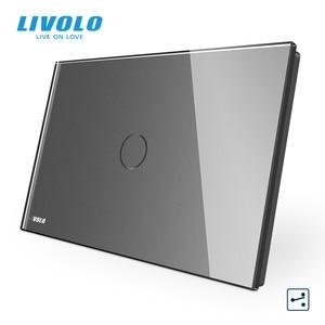 "Image 5 - LIVOLO ארה""ב C9 סטנדרטי מגע מסך קיר אור מתג, 2 דרכים צלב באמצעות שליטה, זכוכית קריסטל לוח, עד Donw מדרגות"