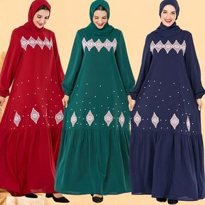 Muslim Fashion Abaya Dubai Dresses for Women Kaftan Hijab Dress Bangladesh Caftan Vestidos Largos Turkey Robe Islamic Clothing