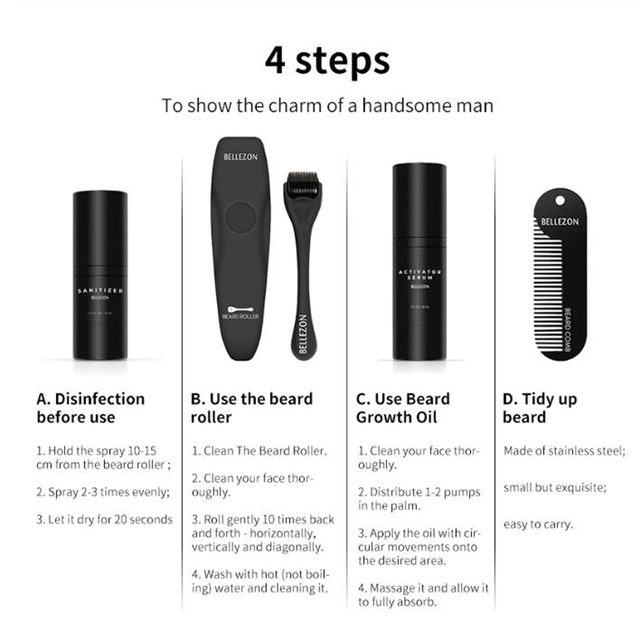 The Beard Growth Kit 4