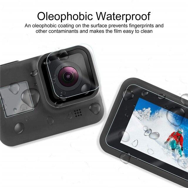 Sports camera Screen protectors for Gopro Hero 8 Tempered glass screen protector for Gopro 8 Lens Protector camera accessories 3