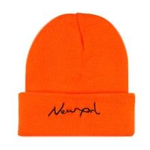 Winfox  Letter Embroidery Cap Beanies Warm Winter Hat For Women Men Knitted Hip Hop Lovers Skullies Black Hats
