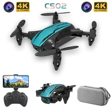 CS02 Mini Drone With 1080P HD Camera WIFI FPV Profesional Altitude Hold Dron Foldable RC Quadcopter Electric RC Helicopter Toy