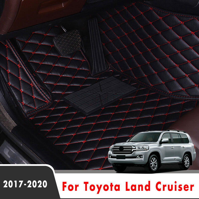 Carpets For Toyota Land Cruiser 2020 2019 2018 2017 Car Floor Mats Styling Custom Interior Accessories Leather Waterproof Rugs