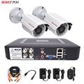 Cctv безопасности системный комплект для фотокамеры видеонаблюдения 2 камеры аналоговый HD 720 P/1080 P AHD 4ch dvr видеонаблюдения водонепроницаемый н...