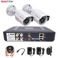 Cctv sistema di telecamere di sicurezza kit di video sorveglianza 2 macchina fotografica Analogica HD 720 P/1080 P AHD 4ch dvr di sorveglianza impermeabile di Visione Notturna