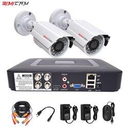 Sistema de cámara de seguridad cctv kit de videovigilancia 2 cámaras analógica HD 720 P/1080 P AHD 4ch dvr vigilancia impermeable visión nocturna