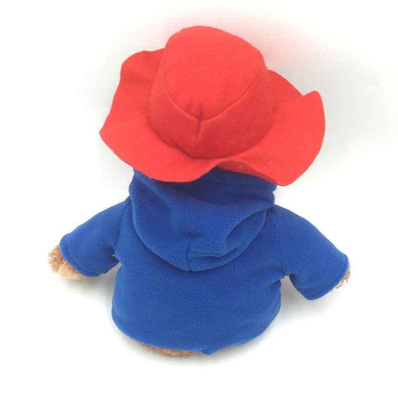 30 سنتيمتر بادنجتون تيدي بير مع قبعة حمراء والملابس الحيوانات المحشوة ألعاب من نسيج مخملي