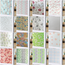 New 45X100cm Frosted Opaque Stained Glass Window Film Privacy Foil Self Adhesive Window Sticker PVC Waterproof Bedroom Bathroom