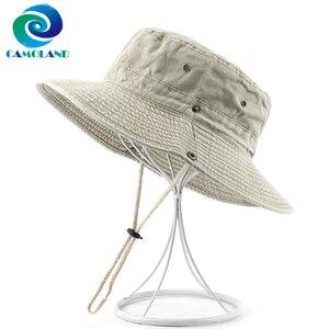 100% algodão boonie chapéu feminino verão upf 50 + chapéus de sol masculino bob panamá chapéus de pesca feminino lavado praia chapéu