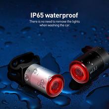 Умный сенсорный велосипедный задний светильник ipx6 водонепроницаемый