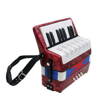 17 Key Professional Mini Accordion Educational Musical Instrument for Both Kids Adult Red
