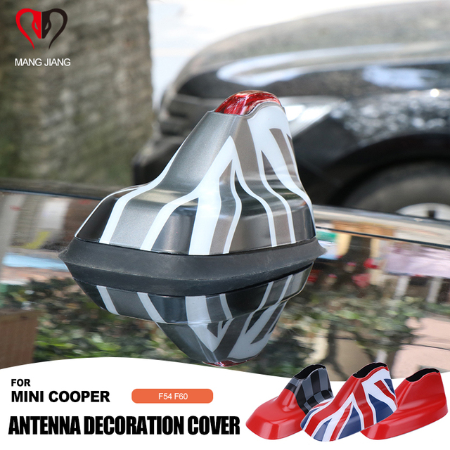 Union Jack cubierta de antena de señal para coche, carcasa con adhesivo modificado para Mini Cooper F54 F60 Clubman Countryman, accesorios para techo de coche