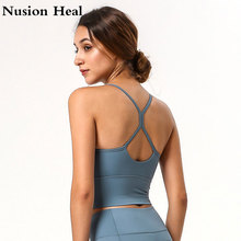 2020 New Strap Sports Bra with Pad High Impact Push Up Yoga Crop Top Women Fitness Gym Workout Yoga Sports Tops Wear Active Tank цена и фото