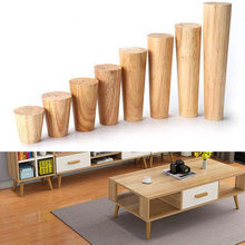Solid Wood Furniture Legs Multi-Size Wooden Cone Sofa Bed Cabinet Table And Chair Sofa Replacement Legs Feet Home Hardware Tools